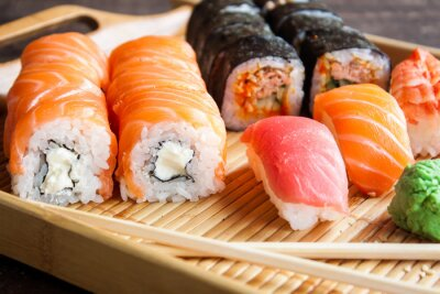 Fotomural Japonês, sushi, jogo