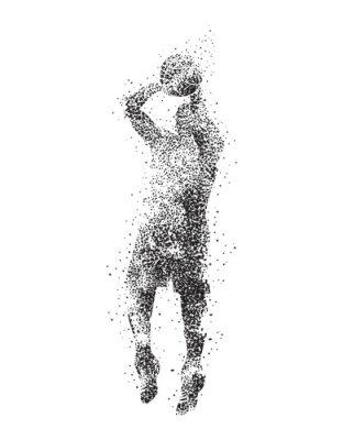 Fotomural Jogador de basquete, silhueta