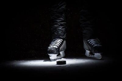 Fotomural Jogador de hockey. Legs only ver mais