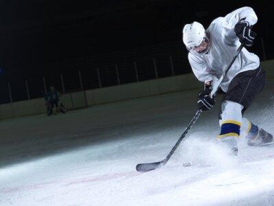 Fotomural Jogador de hóquei do gelo em ação