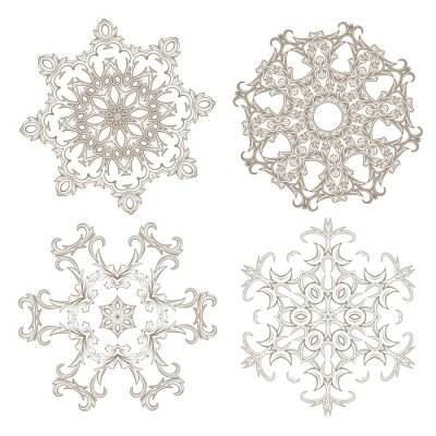 Fotomural Jogo circular geométrico do ornamento.