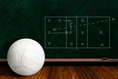 Fotomural Jogo, conceito, voleibol, chalk, conselho, jogo, estratégia