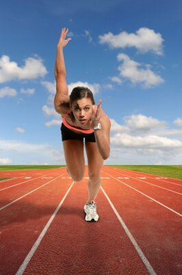 Fotomural Jovem, mulher, correndo