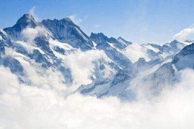 Fotomural Jungfraujoch Alpes paisagem de montanha