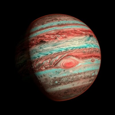 Fotomural Júpiter isolado planeta