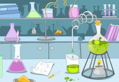 Fotomural Laboratório Químico