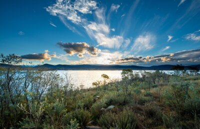 Fotomural Lago Jindabyne em NSW.