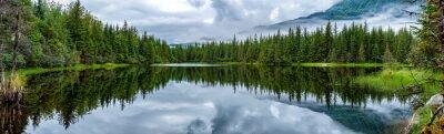 Fotomural Lago, perto, Mendhenall, geleira, enorme, paisagem
