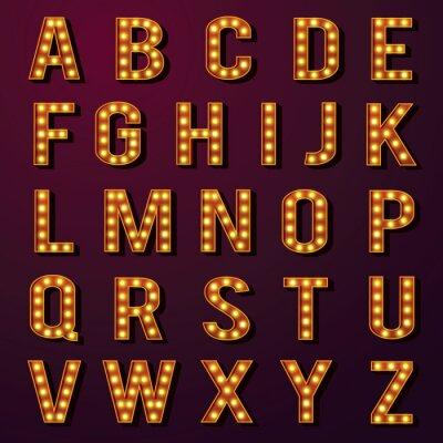 Fotomural Lâmpada Alphabets Set