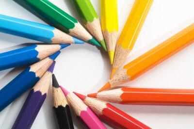 Fotomural lápis de cor