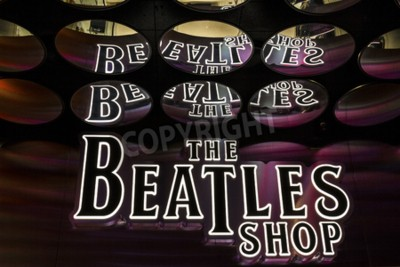 Fotomural Las Vegas - Circa dezembro de 2016: The Beatles Shop at The Mirage. Esta é a única loja de varejo licenciada da Beatles I