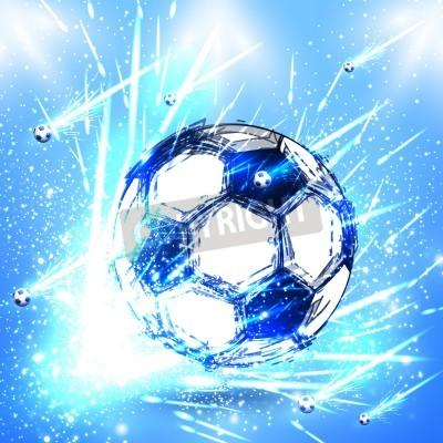 Fotomural light soccer stage