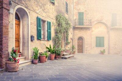 Fotomural Linda rua de Montisi, Toscana