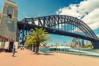 Fotomural Linda vista da ponte do porto de Sydney