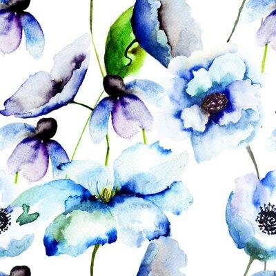 Fotomural Lindas flores azuis