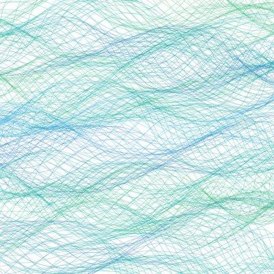 Fotomural Linhas azuis abstratas fundo. Vetor
