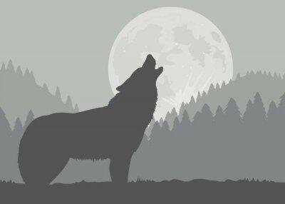 Fotomural Lobo da lua