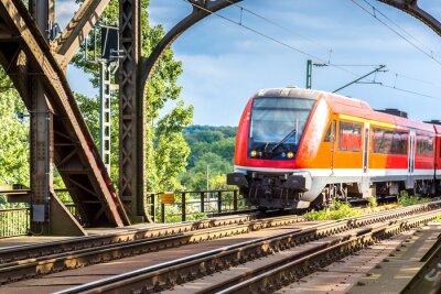 Fotomural Locomotiva elétrica em Frankfurt