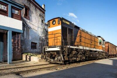Fotomural Locomotiva na estação de Camagüey Cuba