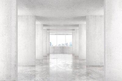 Fotomural Loft, estilo, túnel, muitos, paredes, claro, vazio ...