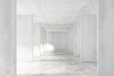 Fotomural Loft, estilo, túnel, muitos, paredes, luz, vazio, predios