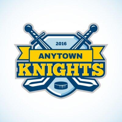 Fotomural Logotipo da equipe dos cavaleiros do hóquei em gelo.