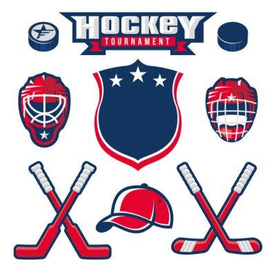 Fotomural Logotipo do hóquei, emblema, rótulo, elementos de design do crachá