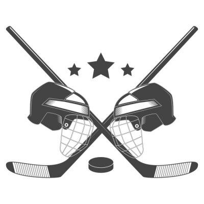 Fotomural Logotipo do vetor do chempionship da competição do hóquei