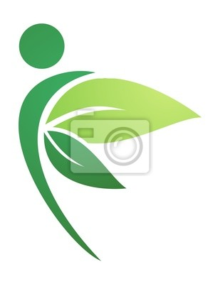 ace36ccbec06d Logotipo ícone símbolo saúde natural as pessoas públicas fotomural ...