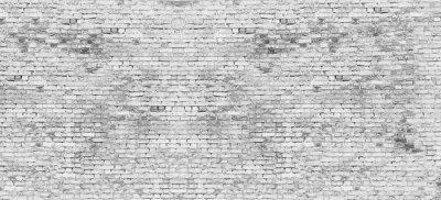Fotomural Longo, branca, tijolo, parede