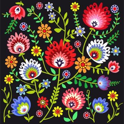 Fotomural Ludowy wzór Kwiatowy