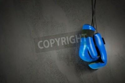 Fotomural Luvas de boxe pendurado na unha na parede