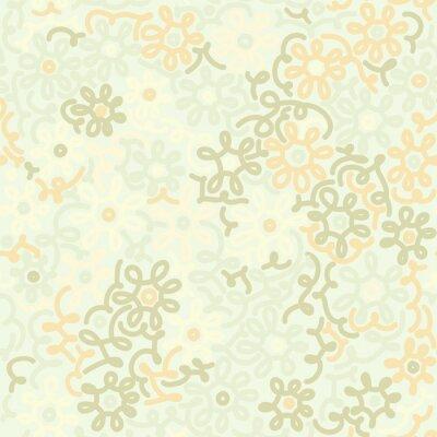 Fotomural Luz floral camomila padrão vintage retro sem costura. Modelo
