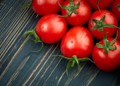 Fotomural Maduro, tomates, escuro, madeira, fundo