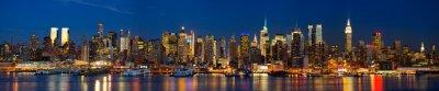 Fotomural Manhattan panorama Skyline na noite, New York