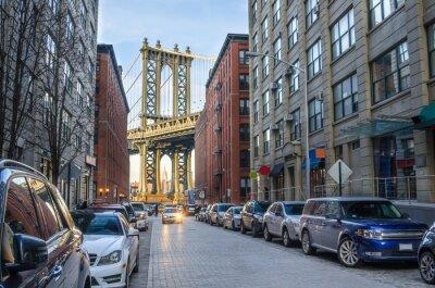 Fotomural Manhattan Ponte de Brooklyn em uma tarde de inverno