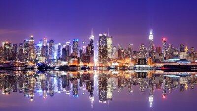 Fotomural Manhattan Skyline com reflexões