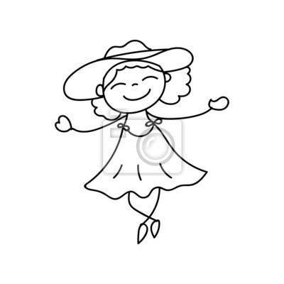 Mão Desenho Dos Desenhos Animados Pessoas Felizes Fotomural