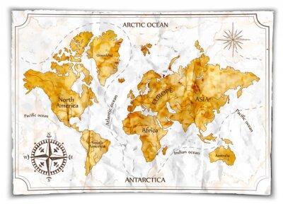 Fotomural Mapa antigo