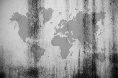 Fotomural Mapa de parede sujo