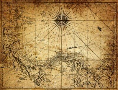 Fotomural Mapa do Panamá