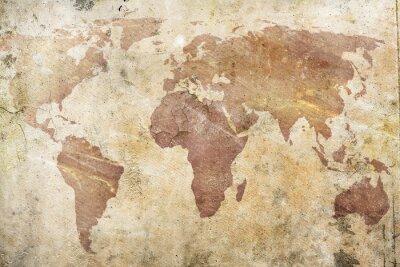 Fotomural mapa do vintage do mundo