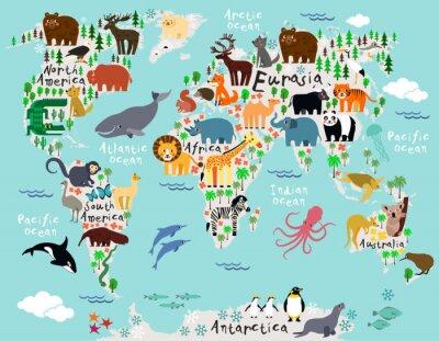 Fotomural Mapa mundial