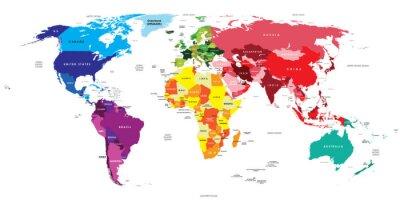 Fotomural Mapa político do mundo