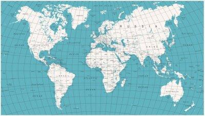 Fotomural Mapa político mundial de vetores vintage