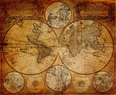 Fotomural Mapa velho (1746)