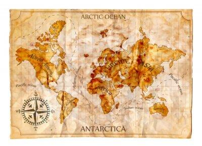 Fotomural Mapa velho