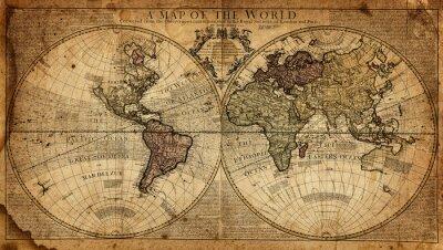 Fotomural Mapa vintage do mundo