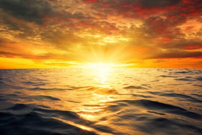 Fotomural Mar e pôr do sol