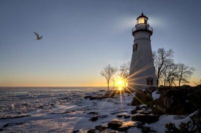 Fotomural Marblehead Lighthouse Sunrise